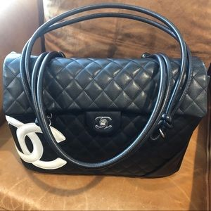 CHANEL Cambon Large Quilted Flap Tote